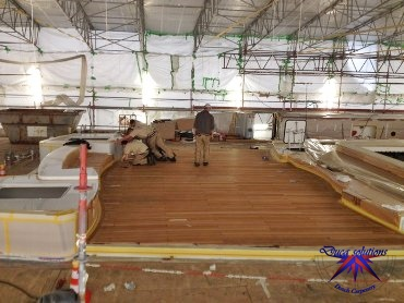 Replacing a teak deck on a superyacht