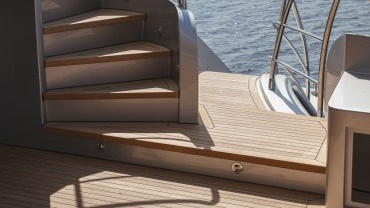 Teak decks for new build yachts