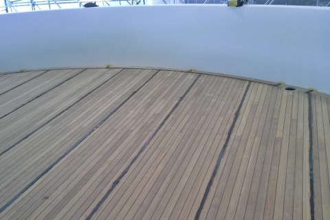 Installation of teak covers by Duca Solutions
