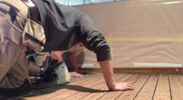 Replacing deck caulking