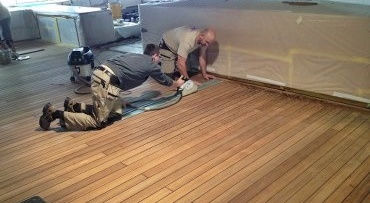Changing deck caulking