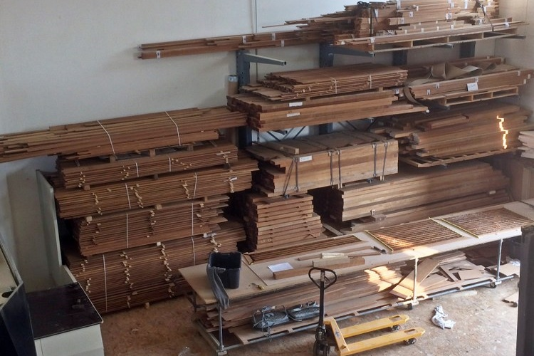 Steps in teak for a motor yacht by Duca Solutions