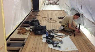 Teak deck renovation and repairs