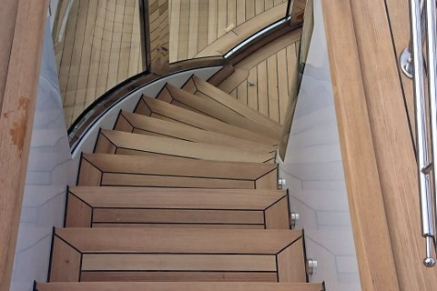 Exterior stairs on a super yacht by Duca Solutions