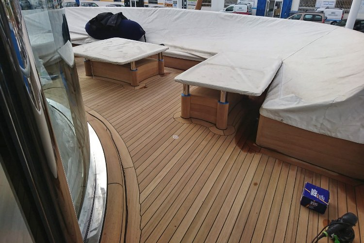 Super yacht decking by Duca Solutions