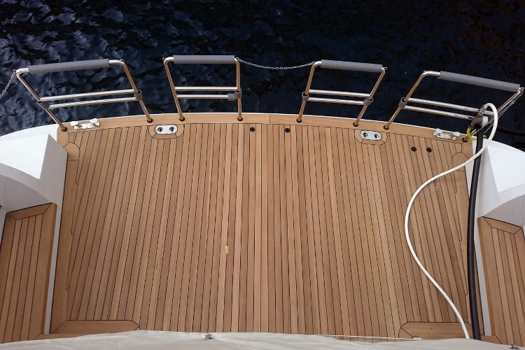 Teak platform for a super yacht by Duca Solutions