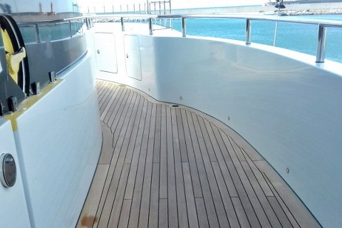 Marine teak decking by Duca Solutions
