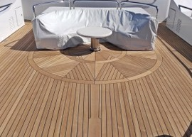 DUCA Solutions have completed replacing of teak decks on M/Y QM of London